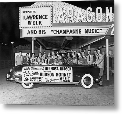 Lawrence Welk In His Hudson Metal Print by Underwood Archives