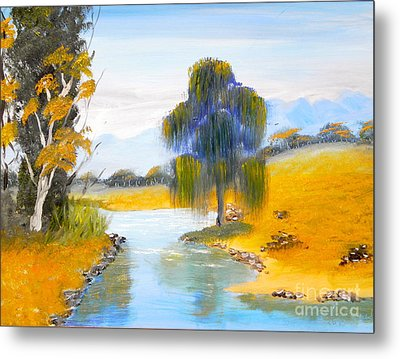 Metal Print featuring the painting Lawson River by Pamela  Meredith