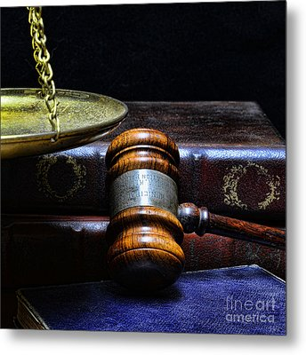 Lawyer - Books Of Justice Metal Print