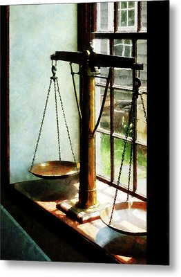 Lawyer - Scales Of Justice Metal Print