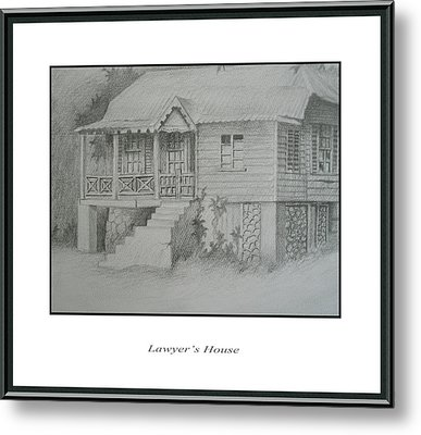 Lawyer's House Metal Print by Jerome Perrin