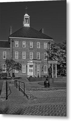 Lawyers Mall Bw Metal Print by Susan Candelario