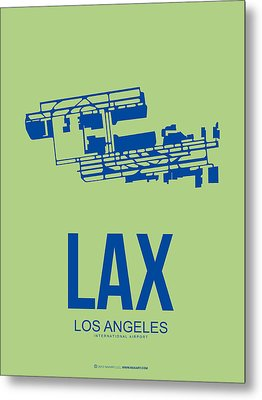 Lax Airport Poster 1 Metal Print by Naxart Studio