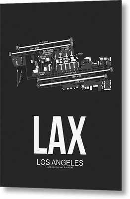 Lax Los Angeles Airport Poster 3 Metal Print by Naxart Studio
