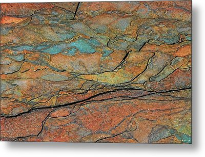 Layered Metal Print by Britt Runyon