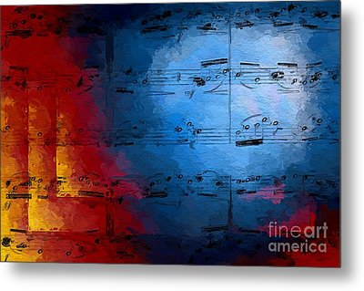 Metal Print featuring the digital art Layered Hot And Cold by Lon Chaffin