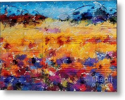 Metal Print featuring the digital art Layered Jelly Bean Lemonade by Lon Chaffin