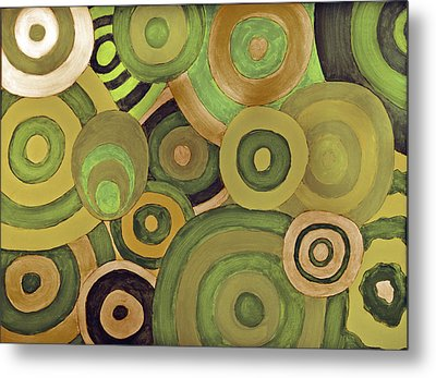 Metal Print featuring the painting Layered Rings by Kjirsten Collier