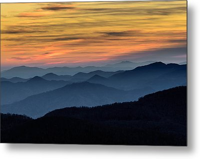 Layers Of The Blue Ridge Mountains Metal Print