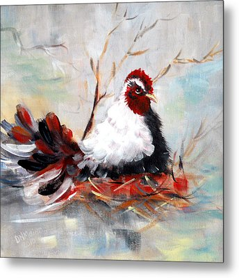 Laying Eggs Metal Print by Dorothy Maier