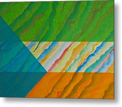 Metal Print featuring the mixed media Layover by Michele Myers
