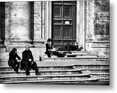 Lazy Day In Roma Metal Print by John Rizzuto