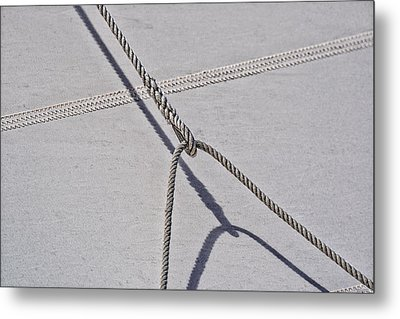 Metal Print featuring the photograph Lazy Jack-shadow And Sail by Marty Saccone
