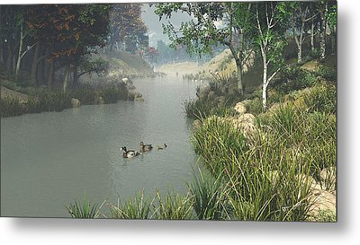 Metal Print featuring the digital art Lazy River by Jayne Wilson