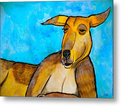Lazy Roo Metal Print by Debi Starr