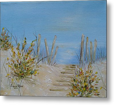 Metal Print featuring the painting Lbi Peace by Judith Rhue