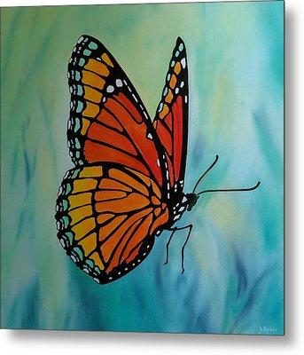 Le Beau Papillon Metal Print