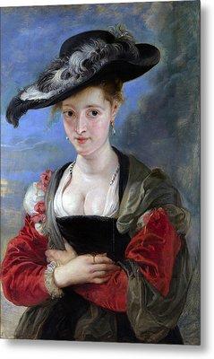 Le Chapeau De Paille Metal Print by Peter Paul Rubens