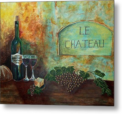 Le Chateau Metal Print by Tamyra Crossley