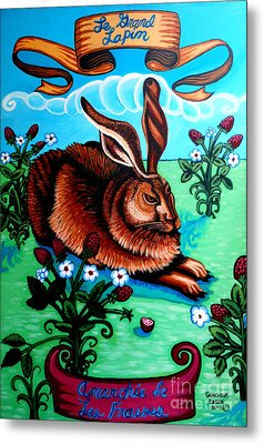 Le Grand Lapin Anarchie Metal Print by Genevieve Esson