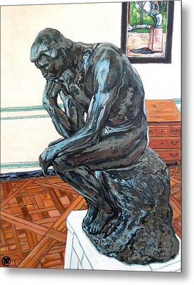 Le Penseur The Thinker Metal Print by Tom Roderick
