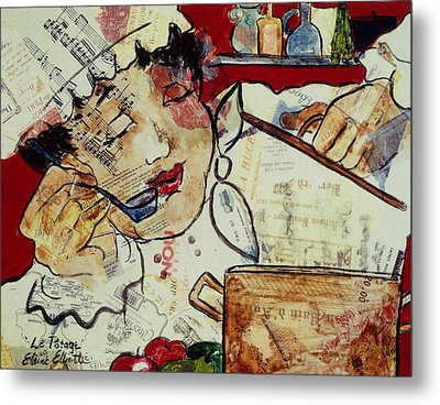 Le Potage Metal Print by Elaine Elliott