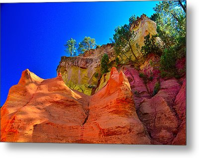 Le Sentier Des Ocres Roussillon France Metal Print by Jeff Black