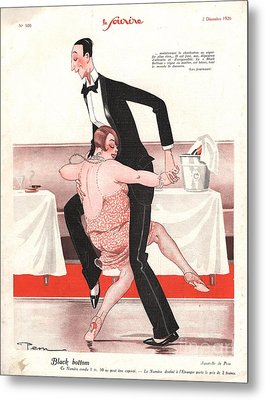 Le Sourire 1926 1920s France  Black Metal Print by The Advertising Archives