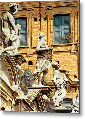 Le Statue Metal Print by Guido Borelli