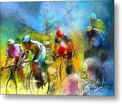 Le Tour De France 01 Metal Print by Miki De Goodaboom