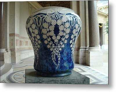 Metal Print featuring the photograph Le Vase Bleu by Kay Gilley