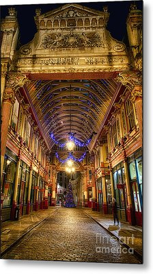 Leadenhall Christmas Lights Metal Print by Jack Torcello