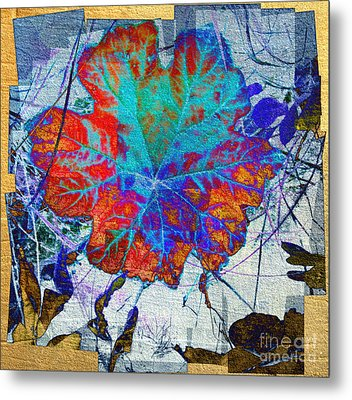 Metal Print featuring the mixed media Leaf   by Irina Hays