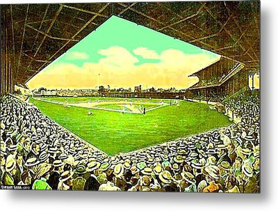 League Park Stadium In Cleveland Oh Around 1915 Metal Print