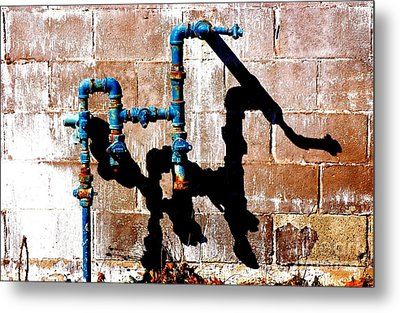 Metal Print featuring the photograph Leaky Faucet II by Christiane Hellner-OBrien
