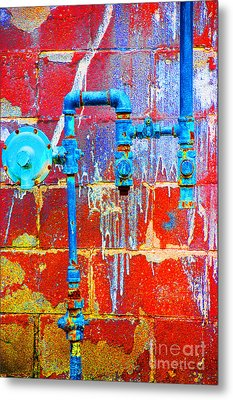 Metal Print featuring the photograph Leaky Faucet by Christiane Hellner-OBrien