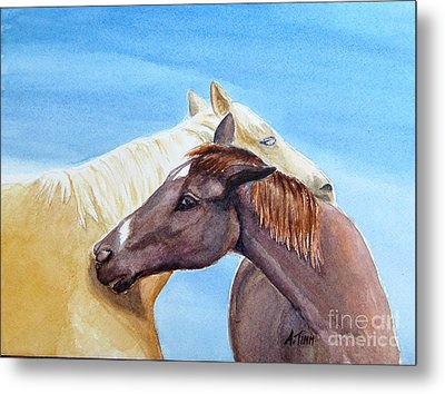 Lean On Me Metal Print by Andrea Timm