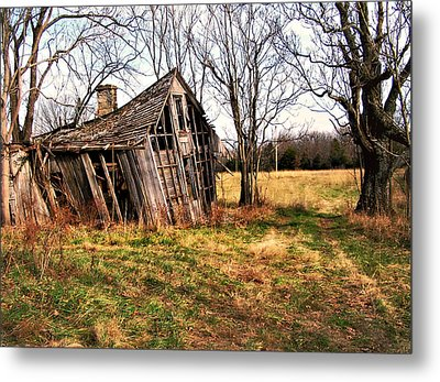 Lean To Metal Print by Marty Koch
