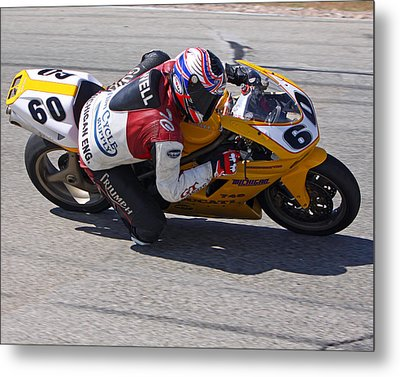 Metal Print featuring the pyrography Leaning Into Speed by Shoal Hollingsworth
