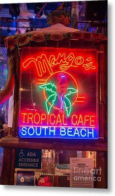Leaning On Mango's South Beach Miami Metal Print