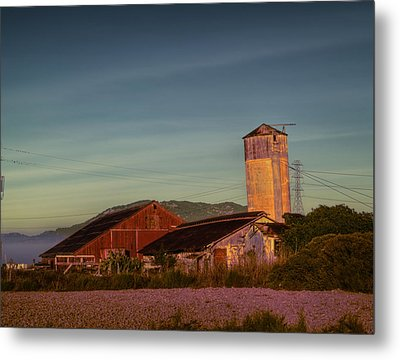 Leaning Silo  Metal Print by Bill Gallagher