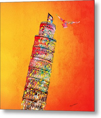 Leaning Tower Metal Print by Mark Ashkenazi