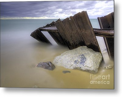 Leaning Walls  Metal Print by Twenty Two North Photography