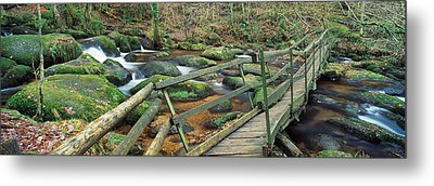 Leap Of Faith Broken Bridge, Becky Metal Print by Panoramic Images