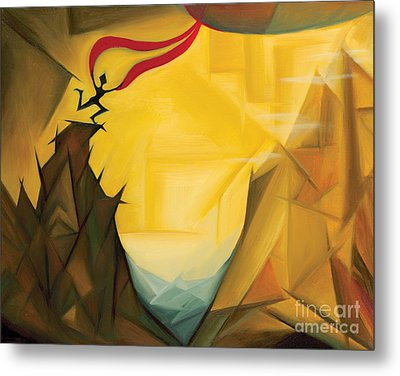 Metal Print featuring the painting Leap Of Faith by Tiffany Davis-Rustam