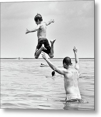 Metal Print featuring the photograph Leap by Trever Miller