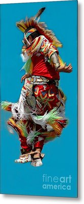Leaping Into The Air Metal Print by Kathleen Struckle