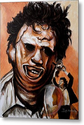 Leatherface Unleashed Metal Print by Al  Molina