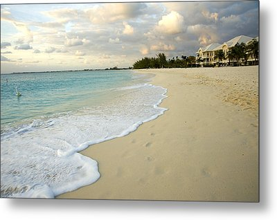 Leave Only Footprints In The Sand Metal Print