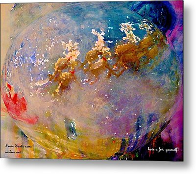 Metal Print featuring the painting Leave Some Cookies For Santa by Lisa Kaiser